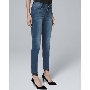 WHBM skinny ankle jeans with lace